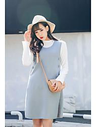 Sinal primavera famoso novo vestido strap simples