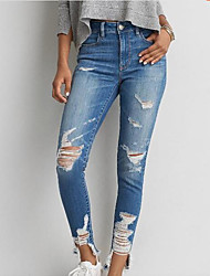 Women's High Rise Stretchy Jeans Pants,Sexy Slim Solid