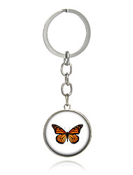Key Chain Butterfly Key Chain Yellow Metal