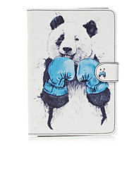 For Apple iPad Mini 4 3 2 1 Case Cover Kungfu Panda Pattern Painted Card Stent Wallet PU Skin Material Flat Protective Shell