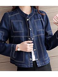 Sign 2017 new street style small collar short paragraph denim shirt jacket women