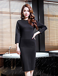 2017 spring new temperament sexy dress bottoming significant lanky models beaded little black spot real shot