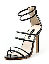 Women's Sandals Summer Club Shoes Rubber Dress Stiletto Heel Zipper
