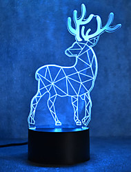 Christmas Milu Deer Turtles Touch Dimming 3D LED Night Light 7Colorful Decoration Atmosphere Lamp Novelty Lighting Christmas Light