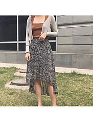 Femme Taille Normale Midi Jupes,Balançoire Points Polka