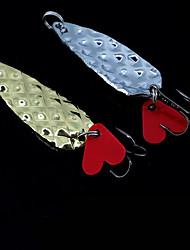 """1 pcs Appât métallique leurres de pêche Kits de leurre Argent Dos noir doré g/Once,8 mm/1-3/4"""" 2-1/8"""" 2-3/8"""" 2-3/4"""" pouce,MétalPêche"""
