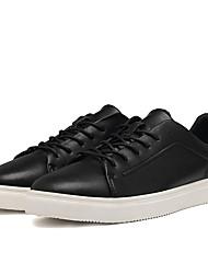 Masculinos sneakers primavera queda conforto pu casuais pretos branco caminhando