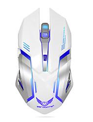 Ratón de juegos inalámbrico recargable de 7 colores de la respiración de respiración comodidad ratones gamer para ordenador portátil de