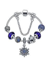 Femme Charmes pour Bracelets Amitié Mode Alliage Forme Ronde Forme de Fleur Bijoux Pour 1pc