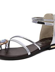 Sandálias femininas solares solares conforto verão pu casuais