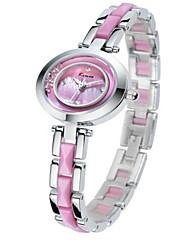 Mulheres Relógio de Moda Quartzo Lega Banda Rosa Roxa