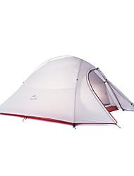 2 Pessoas Tenda Duplo Tenda Dobrada Um Quarto Barraca de acampamento Mantenha Quente Dobrável-Campismo-Cinzento