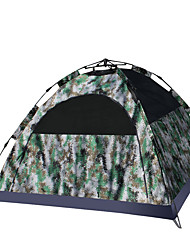 3-4 personnes Tente Double Tente automatique Une pièce Tente de camping 2000-3000 mm Fibre de verre Oxford Etanche Portable-Randonnée