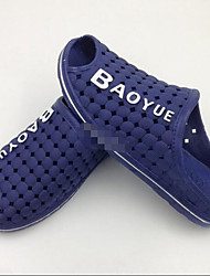 Masculino-Sandálias-Buraco Shoes-Rasteiro--Borracha-Casual