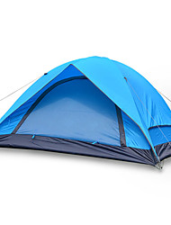 2 persons Tent Double Fold Tent One Room Camping Tent Fiberglass Oxford Waterproof Portable-Hiking Camping-Blue