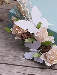 Tissu en tissu de lin-mariage occasion spéciale fleurs décontractées en plein air 1 pièce