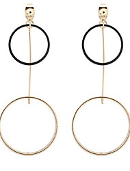 Euramerican Contracted Personalized Character Size Circle Copper Lady Business  Earrings Statement Jewelry