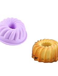 1Pcs  Non-Stick 7.5*7.5*3Cm  Silicone Cake Mold  Silicone Muffin Pan  Pudding Jelly Mold Random  Color