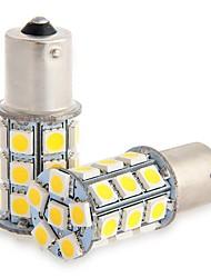 2pcs 1156 27 * 5050smd führte Auto-Glühlampe warmes Licht dc12v