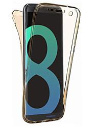 Pour samsung galaxy s8 plus caisse de cas s8 matière allume cigare all inclusive de 360 degrés étui souple boîtier de téléphone s7 bord