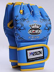 Boxing Gloves for Boxing Fingerless Gloves Protective Nylon Leather Blue Red Black