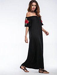 Women's Beach Party Holiday Vintage Street chic Sophisticated Sheath DressStriped U Neck Maxi Sleeveless Cotton Summer High Rise