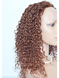 Long Lenght Peruvian Hair Kinky Curl Lace Front  Wig Synthetic  Lace Front  Wig For  Women