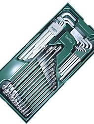 Sata Inbusschlüssel Dual-Schraubenschlüssel 30 Stück Handwerkzeug-Set