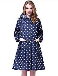Waterproof Fashionable Wave Raincoats 98CM Long Raincoat Folding Poncho Free size