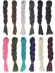 Women Synthetic 24inch 60cm 110g Long Straight Bulk Hair Unisex DIY Hair Weave Weft Doll Hair Material