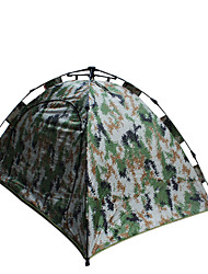 2 persons Tent Double Automatic Tent One Room Camping Tent 1500-2000 mm Fiberglass Oxford Waterproof Portable-Hiking Camping-Camouflage