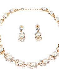 Neue Art und Weise nachgemachte Perlenlegierungsklage (Ohrringhalskette)