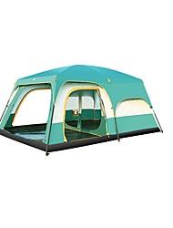 5-8 Pessoas Duplo Dois Quartos com Vestíbulo Barraca de acampamentoCampismo Viajar-Verde