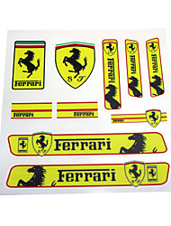 PVC Auto Sticker Decal Emblem Badge For Ferrari