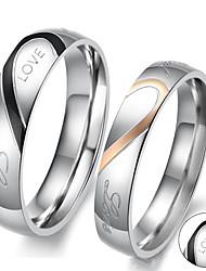 Ringe-Edelstahl-Gold Silber Schwarz