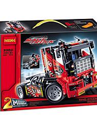 Caminhão Brinquedos Brinquedos de carro ABS Vermelho Modelo e Blocos de Construção