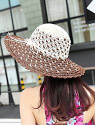 Unisex Primavera Verano Otoño Todas las Temporadas Vintage Bonito Fiesta Trabajo Casual Paja Sombrero de Paja Sombrero para el sol,Sólido
