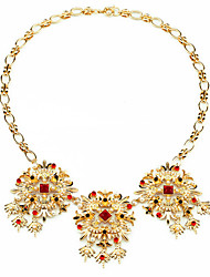 Women's Strands Necklaces Flower Chrome Unique Design Cute Style Gold Jewelry For Gift Daily 1pc