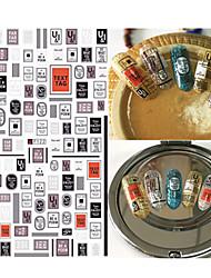 1pcs design de l'alphabet de la personnalité de la mode design ongle art 3d autocollants belle décoration d'image pour ongles diy beauté