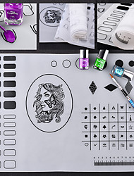 Utskrift silikon mat nagel kunst manikyr verktøy kit makeup kosmetisk neglelakk diy