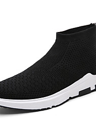 Brand Men's 2017 New Fashion Sneakers Comfort Flying Woven Mesh Breathable Shoes Medium Top