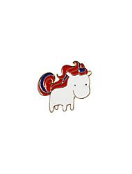 Fashion Trendy Cute Enamel Horse Metal brooch