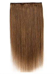 Handmade 24inch one piece 5 clip in 100% remy human hair extension  120g
