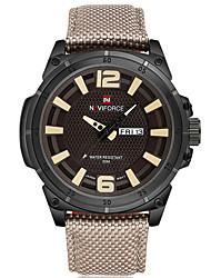 NAVIFORCE Pánské Sportovní hodinky Módní hodinky Náramkové hodinky Hodinky na běžné nošení Křemenný Kalendář Nylon KapelaCool Běžné