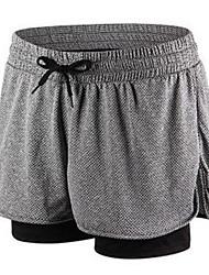 Damen Laufen Shorts/Laufshorts Atmungsaktiv Komfortabel Yoga Polyester Leistung Sportkleidung Grau Purpur Rosa einfarbig