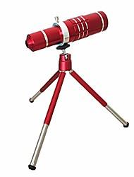 Chinês, vermelho, móvel, telefone, exterior, lente, 18, vezes, telescópio, longo, tiro, teleobjetiva, 18x, telefoto, metal, clip