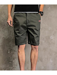 Men's Mid Rise Micro-elastic Shorts Pants,Street chic Loose Solid