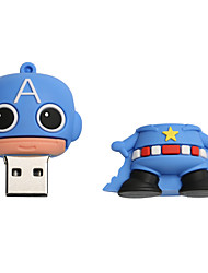 Novo cartoon criativo americano capitão usb 2.0 64gb flash drive u memory stick disco