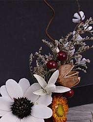 Tissu en tissu de lin-mariage occasion spéciale rondelles décontractées couronne 3 épis