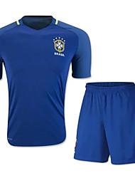 Enfant Football Ensemble de Vêtements/Tenus Respirable Séchage rapide Eté Polyester Football Blanc Bleu marine Rouge Vert Bleu